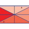 Intuitive proof that the two differently shaped triangles are congruent
