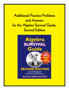Answers to additional practice problems for ASG2