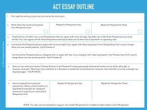 ACT Essay - Gr. Org.